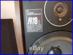Vintage TELEDYNE ACOUSTIC RESEARCH AR18S speakers
