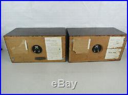 Vtg Acoustic Research AR-4X Speakers (Pair) Dark Walnut Finish Local Pickup